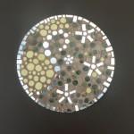 dessous plat mosaique bulles art déco