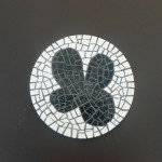 dessous de plat mosaique white and black