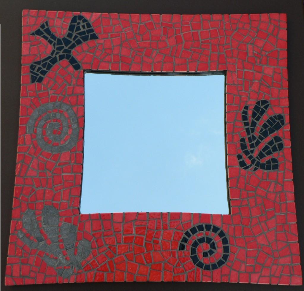 Miroir en mosaïque inspiré de matisse