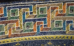 détail de la mosaïque qui recouvre l'une des voutes du mausolée de galla placidia