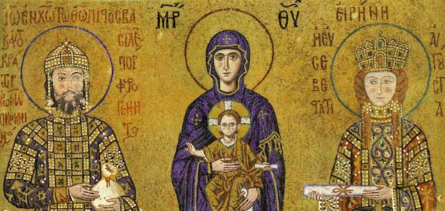 mosaïque de Sainte Sophie à Constantinople