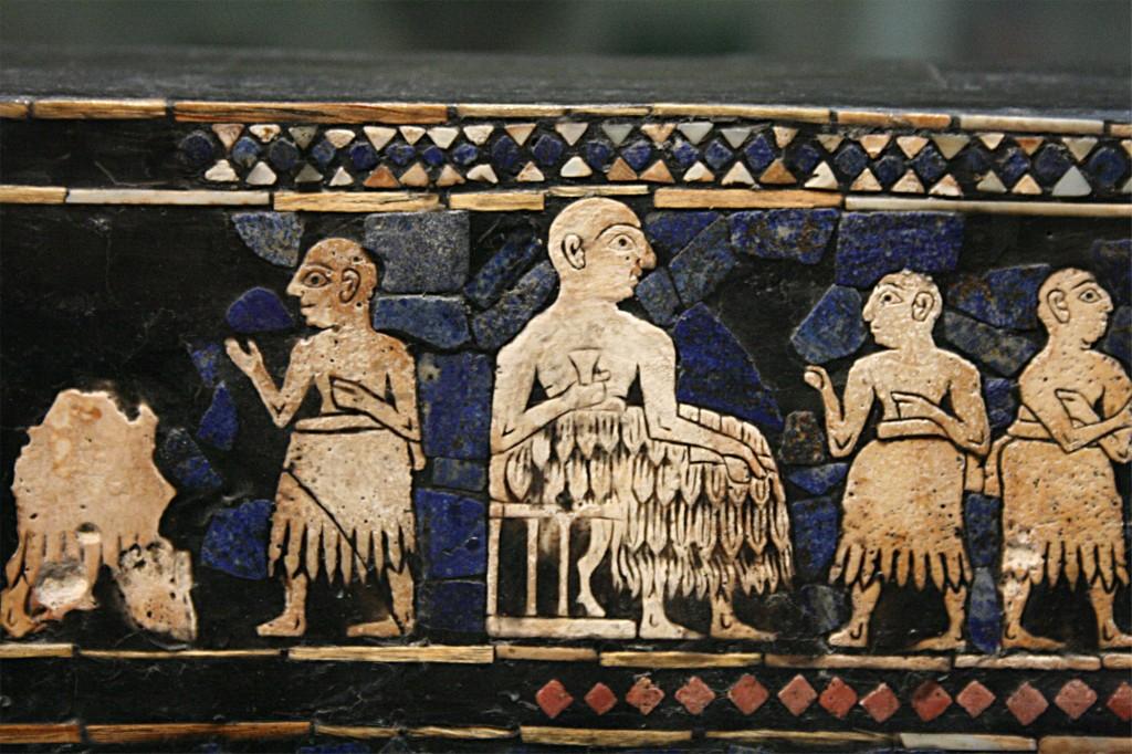 Etendard d'Ur mosaïque mesopotamienne