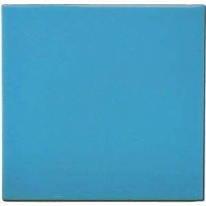 faience unie bleue