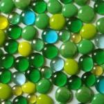 billes de verre vertes