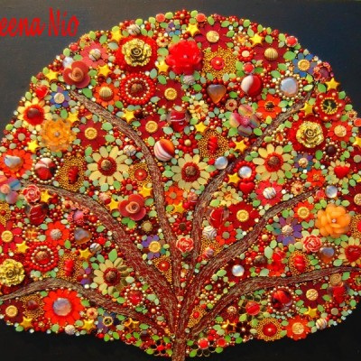 Mosaique Red Tree