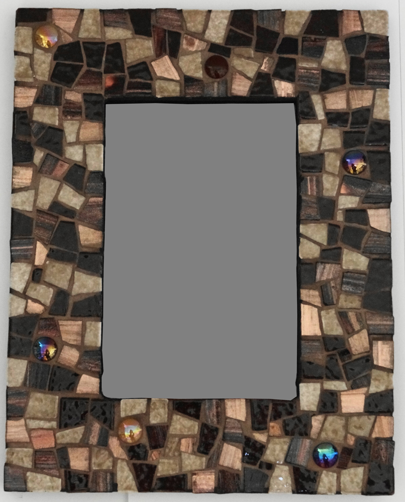 cadre photo mosaique materiaux mixés