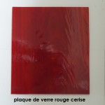 carreau de verre rouge cerise
