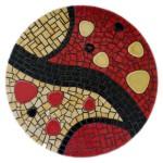mosaique dessous de plat emaux de briare et galets japonais
