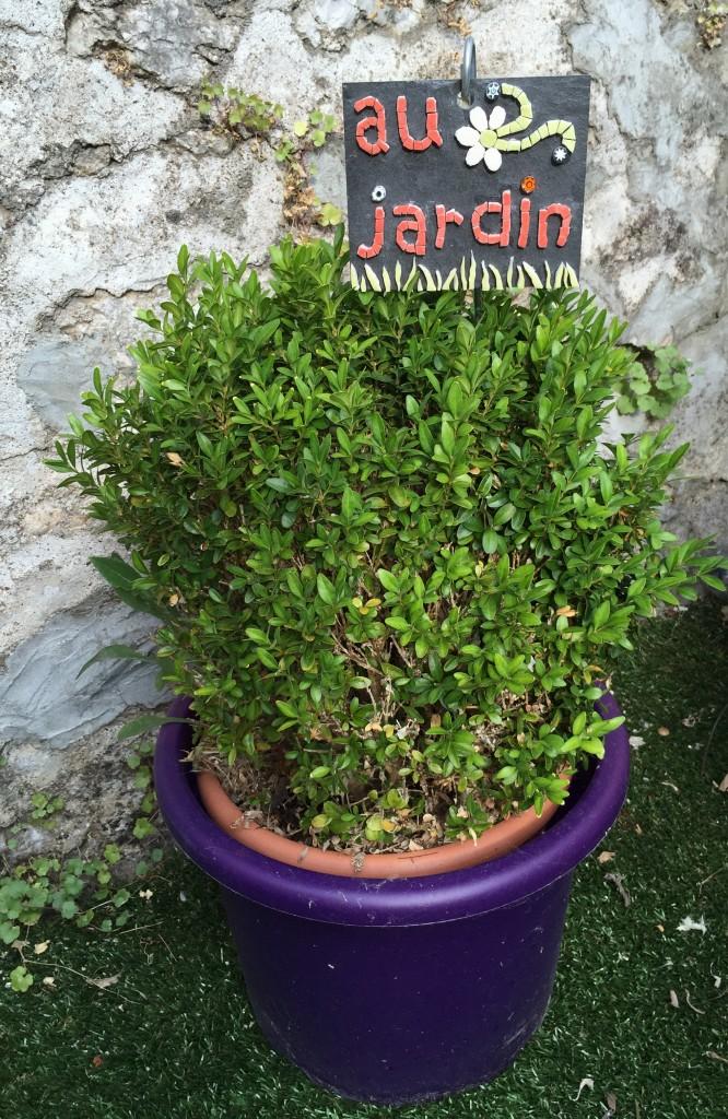 mosaique au jardin