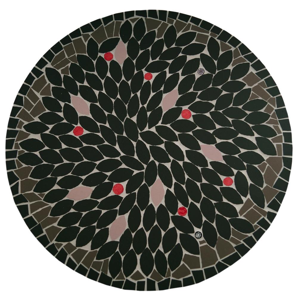 mosaïque dessous de plat grès cérame vibration spanda